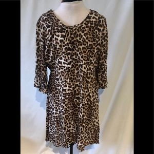 Suzanne Betro Dress Animal Print New With Tags 1X